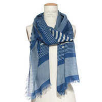 Houndstooth Grid Scarf