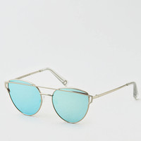 AEO Winged Metal Sunglasses, Silver