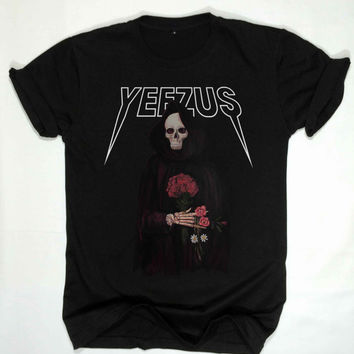 Yeezus shirt kanye west tshirt men and women clothing unisex size S,M,L,XL,XXL,and 3XL black and white