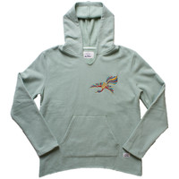 Embroidered Flight Bird Poncho Hoodie (M Only)