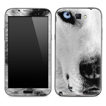 White Wolf Skin for the Samsung Galaxy Note 1 or 2