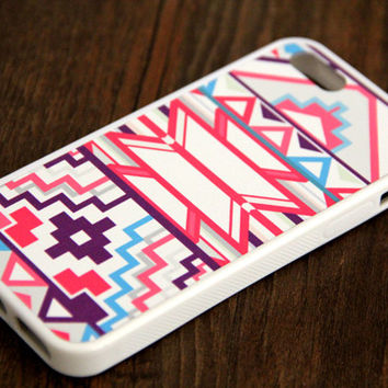 Pink Geometric iPhone and Samsung Galaxy Rubber Case