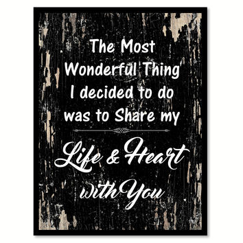 The Most Wonderful Thing Happy Quote Saying Gifts Ideas Home Decor Wall Art