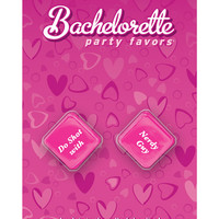 Bachelorette Party Favors Dice - Pink