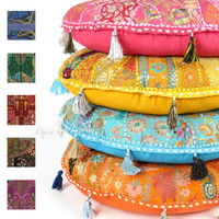 """LARGE SELECTION - 28"""" LARGE DECORATIVE FLOOR PILLOW SEATING CUSHION POUF COVER"""