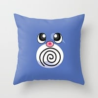 poliwhirl; Throw Pillow by Pink Berry Patterns