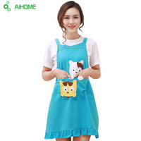 Aprons Novelty Funny Kitchen Cat Kitten Girl Cooking Apron Soil Release Home Textiles Cute Kitten Aprons Creative  Bibs