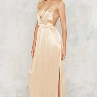 After Party Vintage Rush Satin Maxi Dress