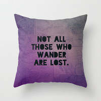 Tolkein: Wander Throw Pillow by Leah Flores Designs