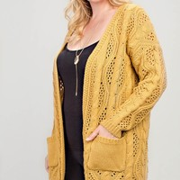 Good Tidings Cardigan + Mustard