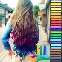 Plum District: All-Natural Hair Coloring Chalks - WizDealz