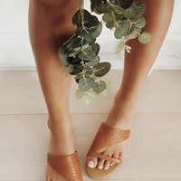 Lucy Slides - Tan - Flats by Sabo Skirt