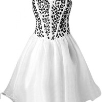 Emma Y Sweetheart Black Beads Cocktail Dress Homecoming Gowns