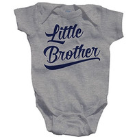 Shirts By Sarah Baby Boy's Little Brother Onesuit Bodysuit