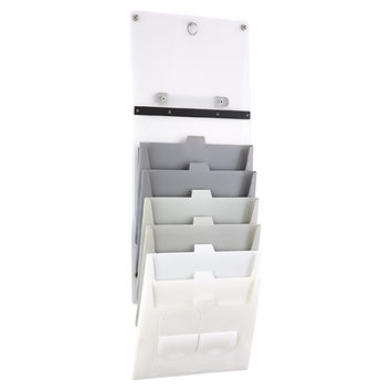 Grey Cascading Letter File Tote