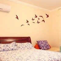 Pretty Flying Birds Removable Wall Sticker Wall Decal:Amazon