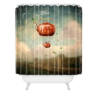 Belle13 Tea for Two at Dusk Shower Curtain