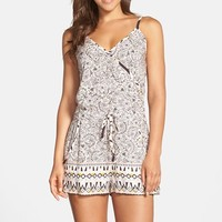 Women's French Connection Print Surplice Romper,