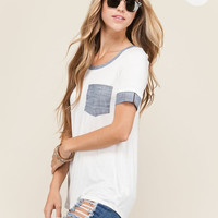 Chambray Pocket Tee
