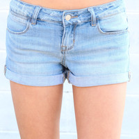 Cuffed Jean Shorts {L. Wash}