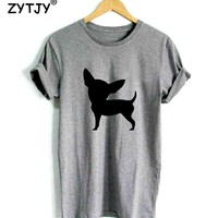 Chihuahua Dog Print Women tshirt Casual Cotton Hipster Funny t shirt For Girl Top Tee Tumblr Drop Ship BA-172