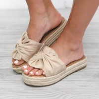 At The Door Slip On Natural Espadrilles