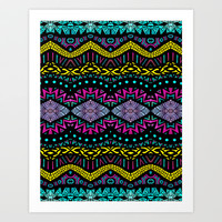 Tribal Dominance Art Print by Pom Graphic Design