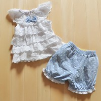 Clothing Sets Blue 2pcs +pants babie 0-2Y