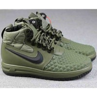 Nike Lunar Force 1 Duckboot Tide Fashion Casual Sports Running Shoes F-A-FJGJXMY green