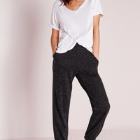 Missguided - Speckle Joggers Black