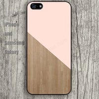 wooden hot pink case iphone 6 6 plus iPhone 5 5S 5C case Samsung S3, S4,S5 case, Ipod touch Silicone Rubber Case, Phone cover