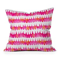 Betsy Olmsted Owl Feather Throw Pillow