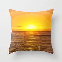 TREBLE SUNSET Throw Pillow by catspaws | Society6