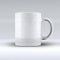 The Silver and White Unfocused Sparkle Orbs ink-Fuzed Ceramic Coffee Mug