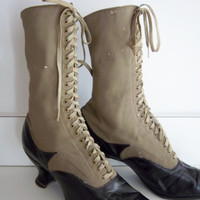 Antique Two-Tone Shoes made by F.A. Petersen, Clinton Iowa