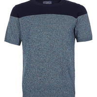 Colour Block Short Sleeve Crew Neck Jumper - Men's T-shirts - Clothing - TOPMAN USA