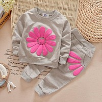 Infant C lothing Autumn Winter Baby Girls Clothes T-shirt+Pants 2pcs Outfit Suit Baby Girls Clothing Set born Clothes