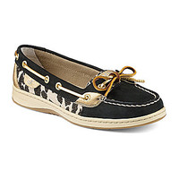 Sperry Top-Sider Angelfish Boat Shoes - Black/Leopard