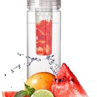 Infuser Water Bottle 27 Ounce - Choose To Infuse Your Water, Naturally, with Ingredients You Choose | The Fun & Healthy Way to Enjoy Your Daily Water | Free Recipe eBook* Included!