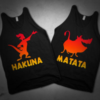 Lion King Hakuna Matata Cute Best Friend Tanks For Summer