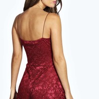 Abi Spaghetti Strap All Over Lace Playsuit
