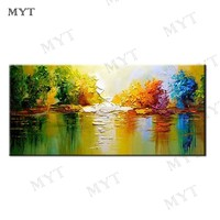 MYT Free Shipping Modern Abstract Oil Painting On Canvas 1 Panel Wall Arts Sets Home Abstract Wall Decor Picture for Living Room
