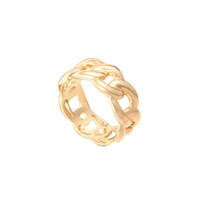 Curb Chain Gold Ring