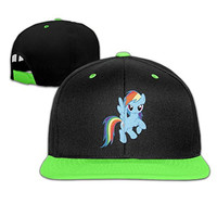 Sunny Fish6hh Unisex Adjustable My Little Pony HipHop Baseball Caps Hat For Kids Teenager KellyGreen