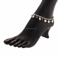 Silver Sea Shell Charm Anklet