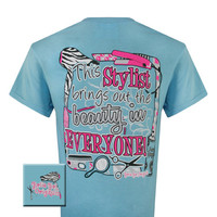 Girlie Girl Originals Hair Dry Stylist Beautician Beauty In Everyone Bright T Shirt