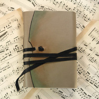 """Leather Journal - Vintage Style Notebook, Blank Book, Travel Journal - Leather Cover, Vintage Pages - """"the introvert"""""""