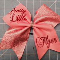 Pink Tic Toc Pretty LIttle Flyer Cheer Bow