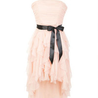 Mesh Hanky Hem Party Dress