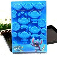 Disney Stitch Silicone Ice Mould Chocolate Candy Muffin Pan Cup Mold